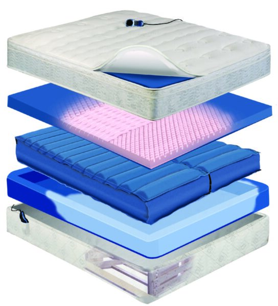 night air dual chamber air bed construction